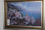 Mediterranean Seaside Village Watercolor, T.Price