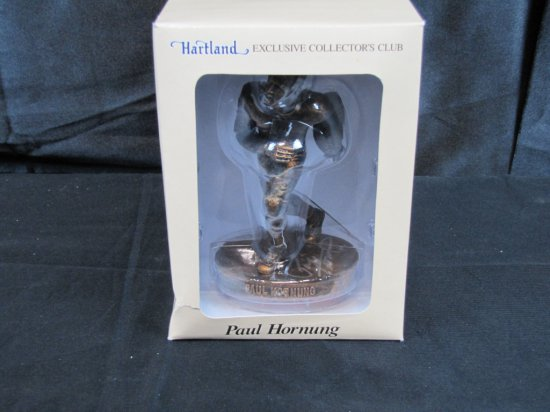 Paul Hornung, signed Hartland, statue, Bronze in color, 7 inches tall, with Hartland certificate,
