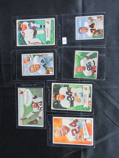 Vintage Cleveland Browns lot; 7 cards, all Browns, all Bowman, 1950-1952, all one bid