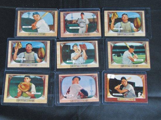 1955 Bowman baseball lot, 15 cards, card # 6,15,34 (2), 35,46,50,61,63,66,104,105,117,120,138,186, V