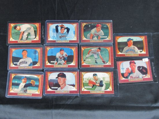 Bowman lot 1955, 11 cards, card ## 187,200,210,211,212,213,214,215,219,223,236,Vg/VG plus, all one b