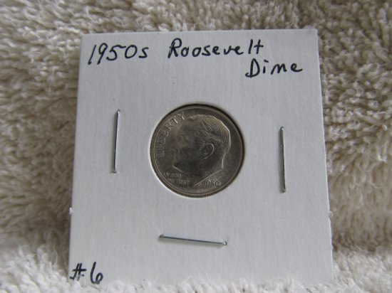 1950S ROOSEVELT DIME KEY DATE BU