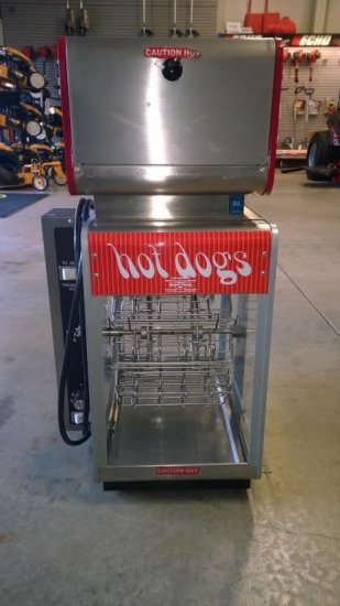 Hot Dog machine, Holds 12 Hot dogs, Includes bun warmer˜