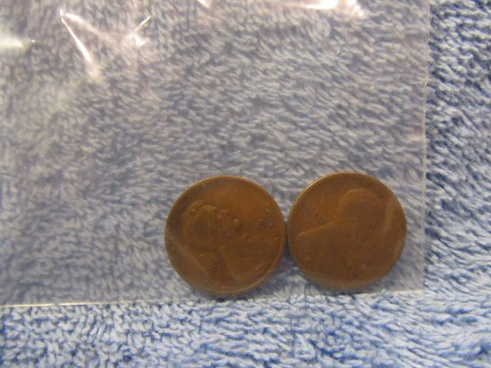 2-1913S LINCOLN CENTS G-VG