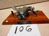 NEW HOLLAND SILVER ANNIVERSARY 1965 BALER PEN HOLDER GIVEN TO HAROLD H. SCHLENKER BY NEW HOLLAND GIV