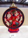 STAR 2 WHEEL COFFEE MILL 36'' TALL A GREAT PIECE COMPLETE VERY NICE RARE