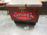 CGOSHEN DAIRY COOLER 34'' HIGH 36'' WIDE X 24'' DEEP WORKS GREAT LOCAL PIECE[ PICK UP ONLY ]