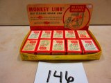 MONKEY LINK REPAIR LINK NEW OLD STOCK IN ORG. STORE DISPLAY GOOD ADV. CO. STORE PIECE
