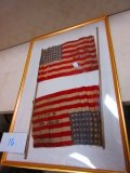 2 --48 STAR FLAGS IN FRAME GIVE AWAY AT MCKELVY POST REUNION