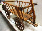 AWSOME EARLY WOODEN GOAT WAGON GREAT COND.  RARE TO FIND ONE THIS GOOD WOW
