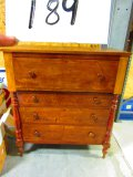 EARLY 4 DRAWER TIGER MAPLE CHEST OF DRAWERS VERY NICE GREAT PIECE
