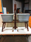 ANCHOR BRAND WASH STAND WITH WRINGER & 2 GAL. TUBS