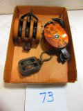 3 VERY NICE PULLEYS INC. A MINI DOUBLE [YOUR BID TIMES 3 ]