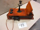 OAK WALL PHONE GREAT COND. RARE TO FIND IN THIS COND.