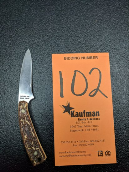 Schrade Straight Blade Knife - 154UH