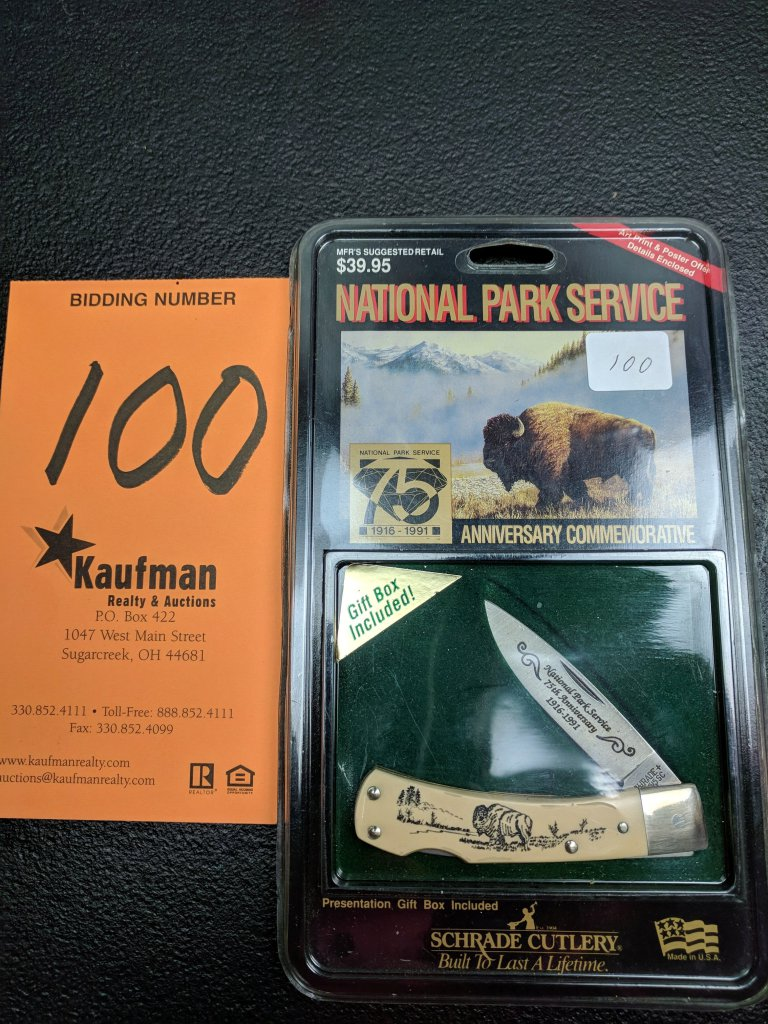 Schrade National Park Service Pocket knife - 75th Anniversary Commerative