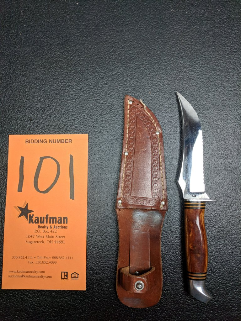 Schrade-Walden Straight Blade Knife & Sheath - 148