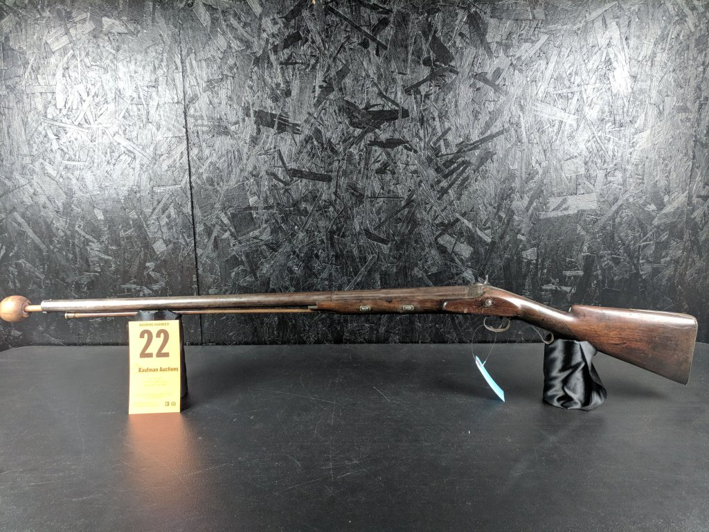 "Unknown 6 or 8 Gauge - 7/8"" Bore - Percussion Shotgun"