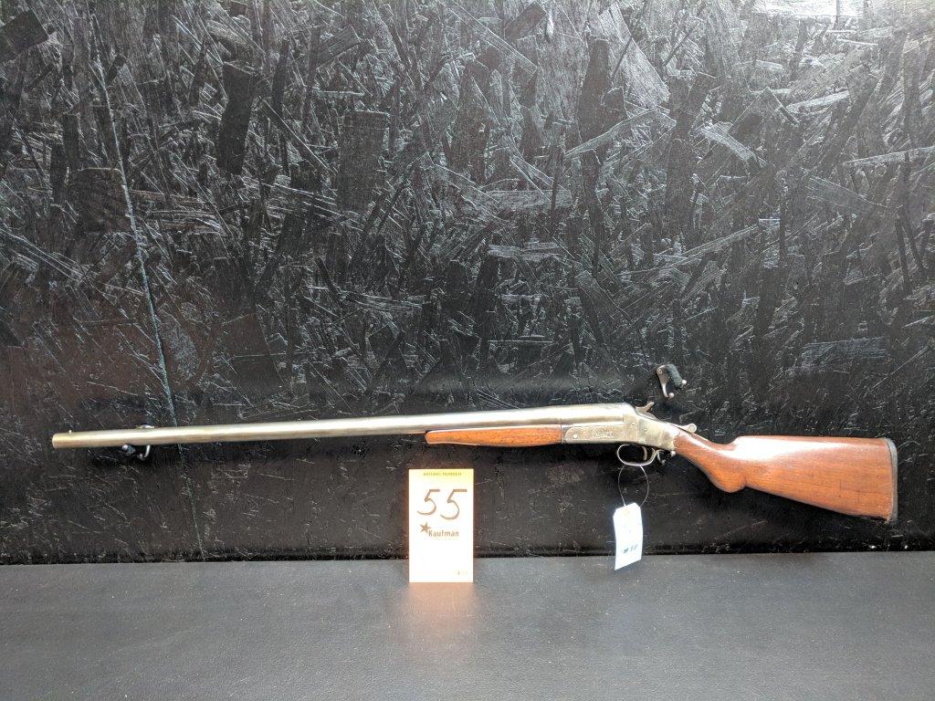 Geo. Worthington Model Expert - 12 Gauge Single Shot - Cracked Stock