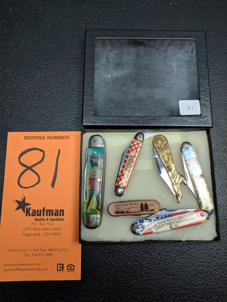 (6) Knives - Purina (Canton), Tom Mix, Nehi & Others