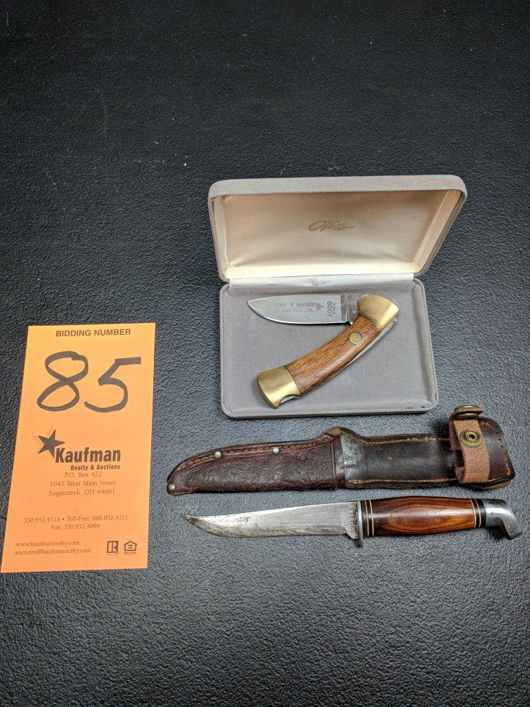 Boker Straight Blade & Boker Single Blade Pocket Knife - Tree brand Classic 2000 - 440C