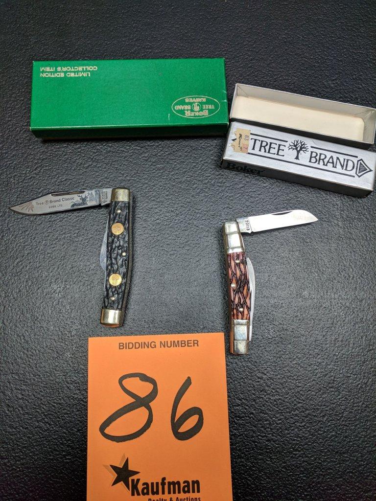 (2) Boker Pocket Knives - Tree Brand - 70113 & 6066LTD
