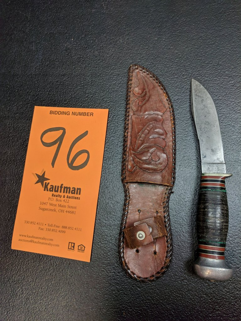 Remington Dupont RH32 Straight Blade Knife & Sheath