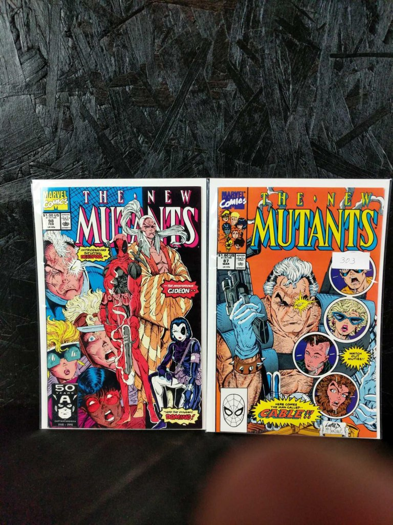 The New Mutants comic books issues 87 and 98