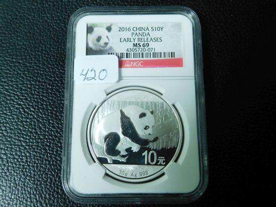 2016 CHINA PANDA NGC MS69 EARLY RELEASES