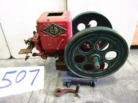 EMERSON BRANTINGHAM 1 1/2 H.P. TYPE N MISSING MAG. & TRIP ARM EARLY RESTORATION GREAT RARE ENGINE