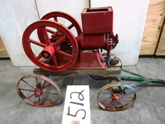 ECONOMY 1912 STYLE 2 H.P . COMPLETE NEAR SHOW READY SER. # 29530 INSERT HOPPER VERY EARLY ENGINE ON