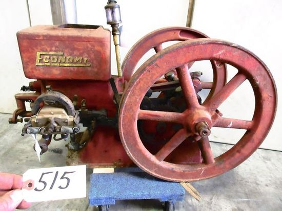 ECONOMY 1 1/2 H.P. WEBSTER IGNITER EARLY RESTORATION COMPLETE VERY NICE OF WALTERS SHOW TRAILER GREA