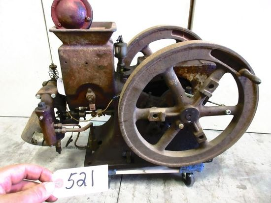 R.E. OLDS 1 1/2 H. P. GREAT ORG. COND. WITH REPRO HOPPER LID ORG. CHECK VALVE BOX AWSOME ENGINE FOR