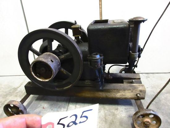 TAYLOR VACUME TYPE C 2 H.P. ENGINE ON HOME MADE CART VERY RARE ALL ORG. COND. GREAT PIECE