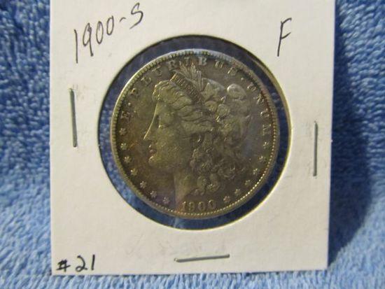 1900S MORGAN DOLLAR F+