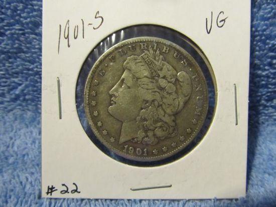 1901S MORGAN DOLLAR F