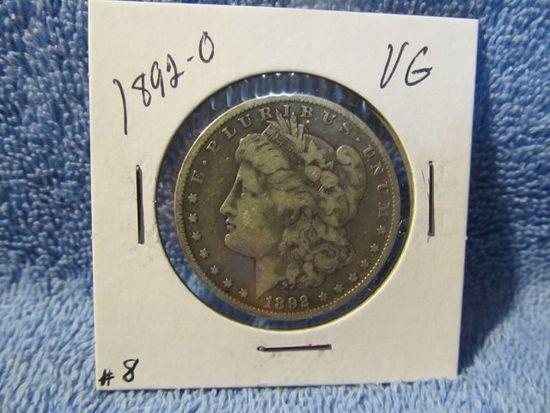 1892O MORGAN DOLLAR F