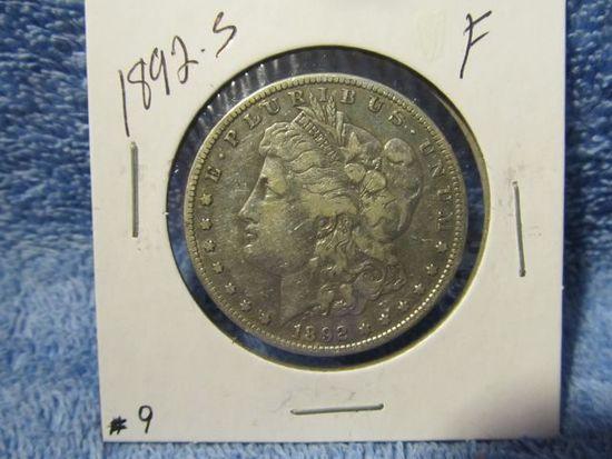 1892S MORGAN DOLLAR F