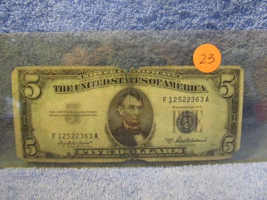 1953A $5. SILVER CERTIFICATE