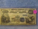 1900 $10. NATIONAL BANK NOTE CANTON, OH. VF