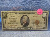 1929 $10. NATIONAL CURRENCY NOTE BANGOR, PA VG