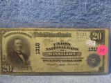 1902 $20. NATIONAL BANK NOTE MASSILLON, OH. F