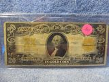 1922 $20. GOLD CERTIFICATE VG