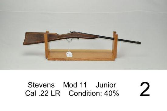 Stevens    Mod 11    Junior    Cal .22 LR    Condition: 40%