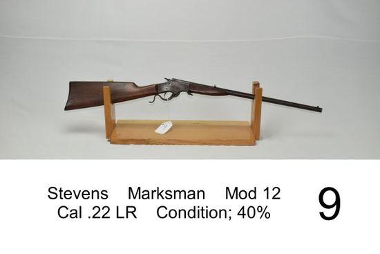 Stevens    Marksman    Mod 12    Cal .22 LR    Condition: 40%
