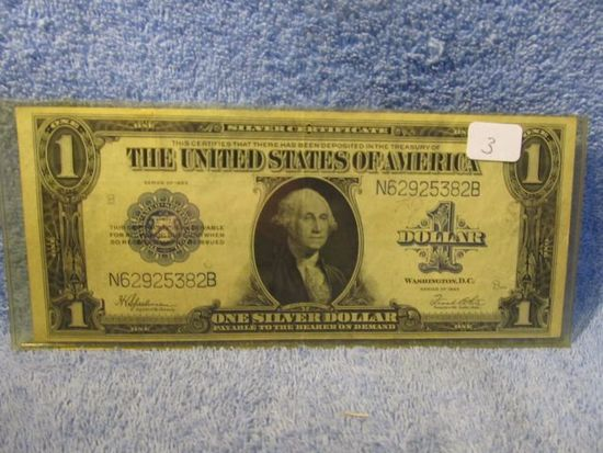 1923 $1. LARGE SIZE SILVER CERTIFICATE SPEELMAN/WHITE XF