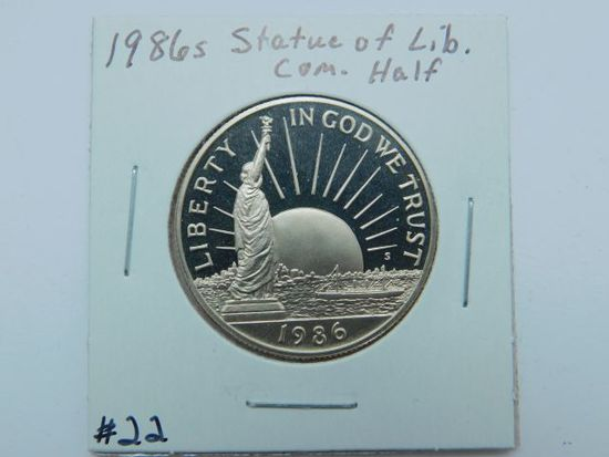 1986S STATUE OF LIBERTY COM. HALF PF