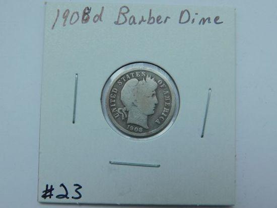 1908D BARBER DIME G