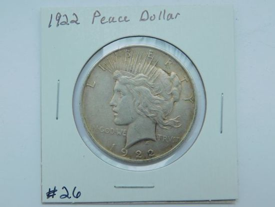 1922 PEACE DOLLAR XF