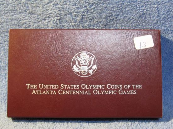 1995 U.S. OLYMPIC 2-COIN SET IN HOLDER